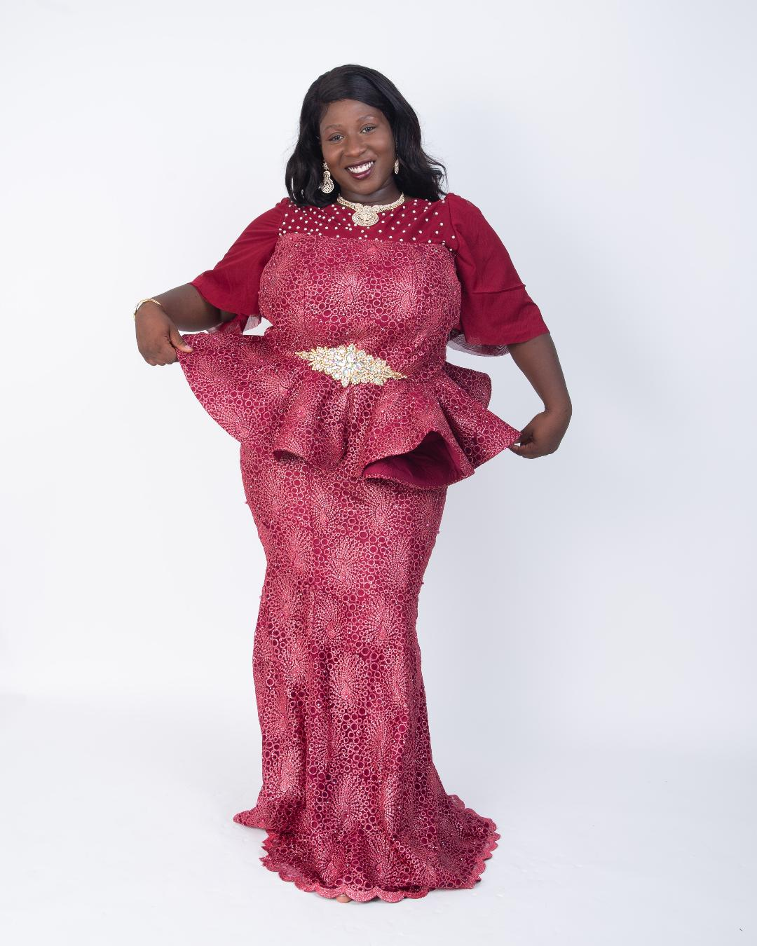 Amble couture Formal Lace skirt and blouse