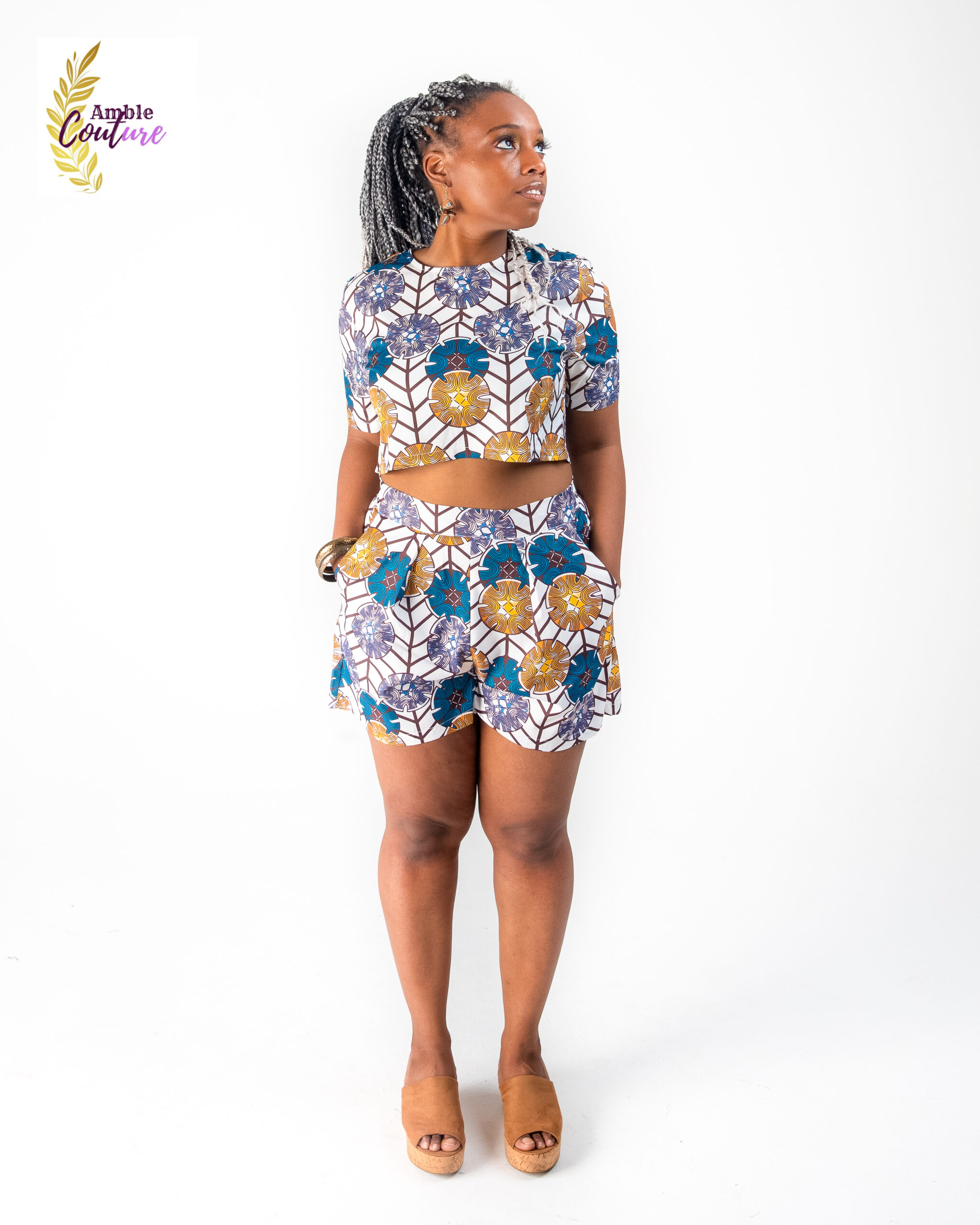 Amble Couture Crop Top and Pant